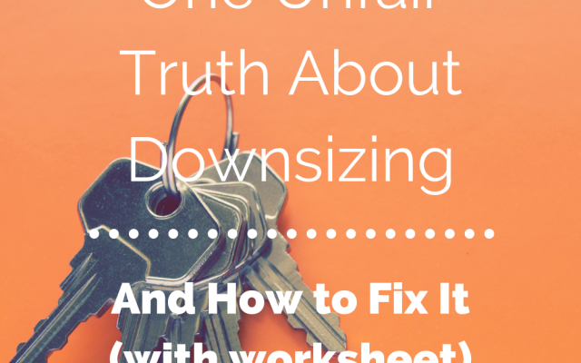 Print this free checklist and get started downsizing.