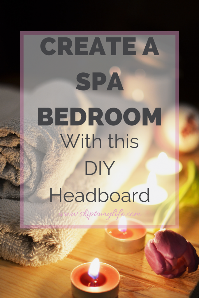 Update your bedroom by creating an easy and inexpensive headboard.