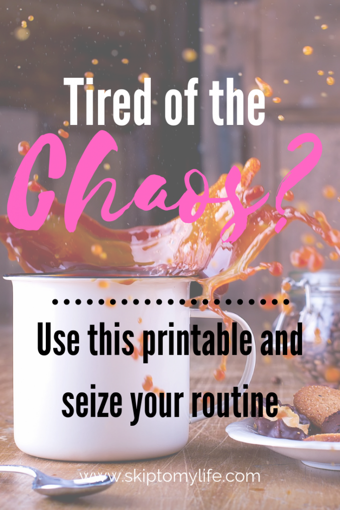 If you're having trouble getting into an Empty Nest schedule, use this printable and get started!