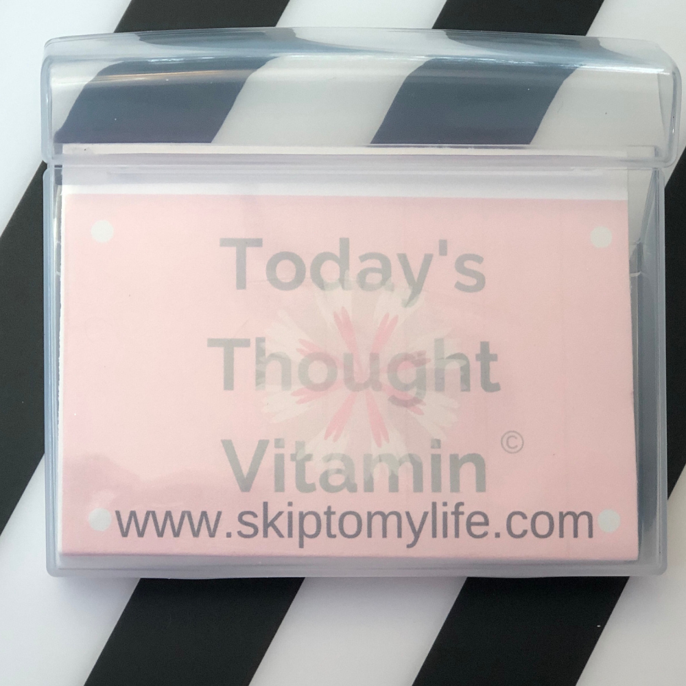 Your 30 affirmations fit neatly inside a chewing gum case, to take with you anywhere!