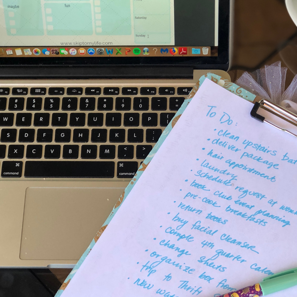 Start your Weekly Schedule by jotting down everything that's on your mind.