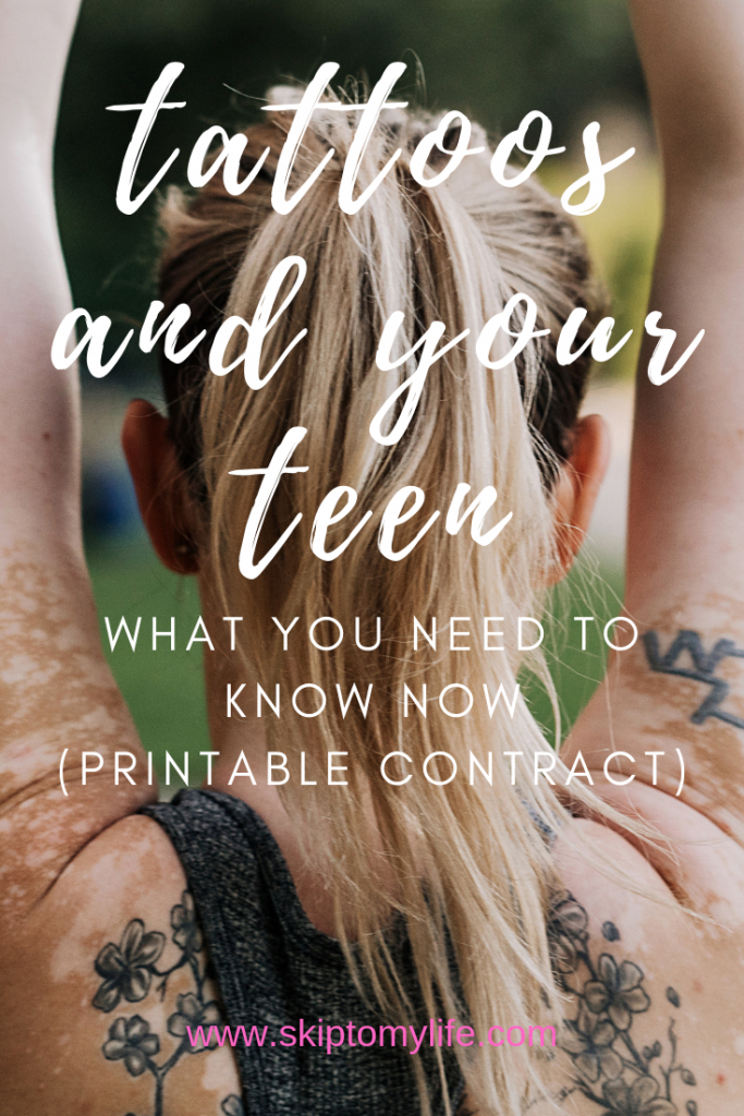 Teens and tattoos- what parents need to know now.