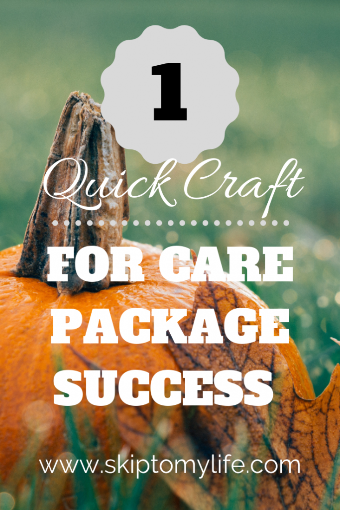 Your student will love this fall care package with one quick and inexpensive craft.