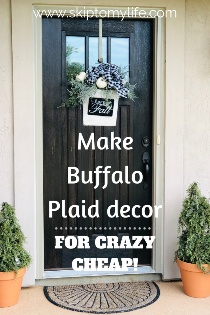 I'll teach you how to make beautiful fall door decor for just a few dollars.