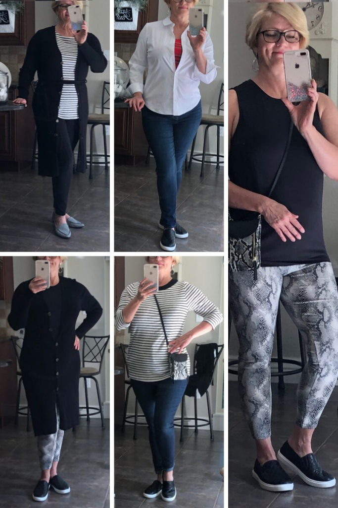 Just 6 of the looks you can achieve with this 10 piece capsule wardrobe.