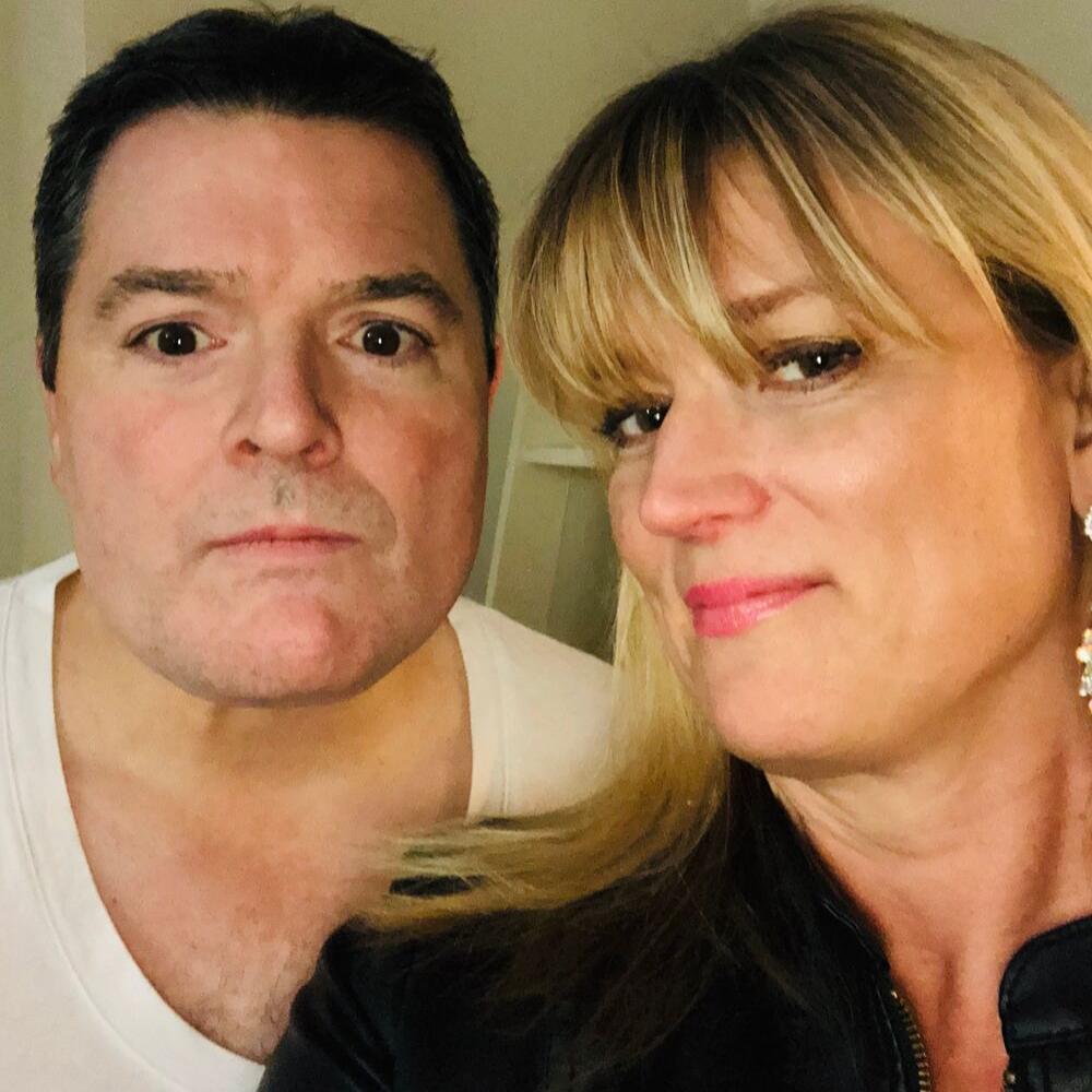 One year, we were Simon Cowell and Heidi Klum for Halloween.