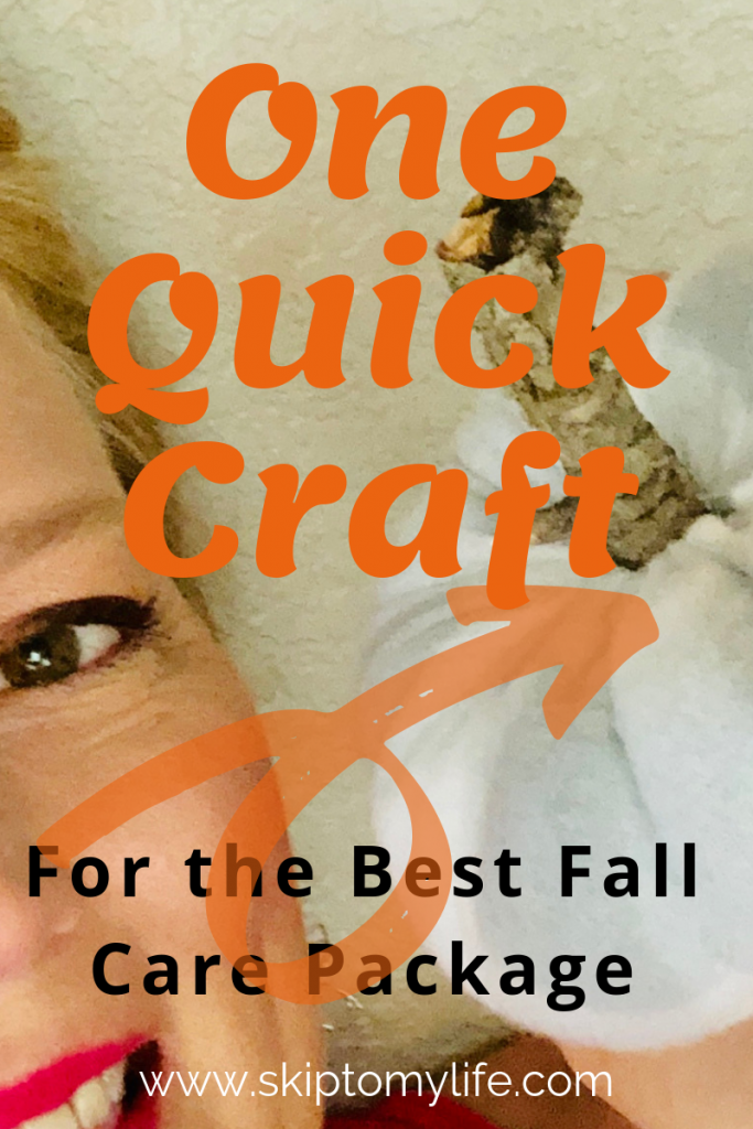 Looking for an inexpensive fall care package idea? Check out this simple craft!
