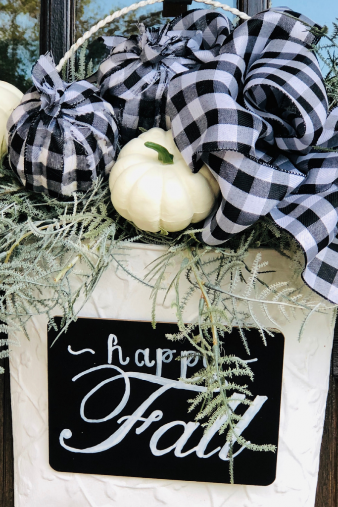 Finished product! Buffalo plaid decor doesn't have to be expensive.
