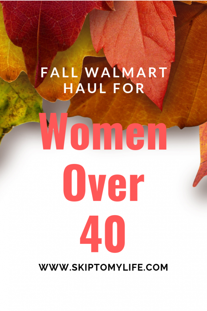 My WalMart Fall Haul will inspire you to up your style game if you're a woman over 40.