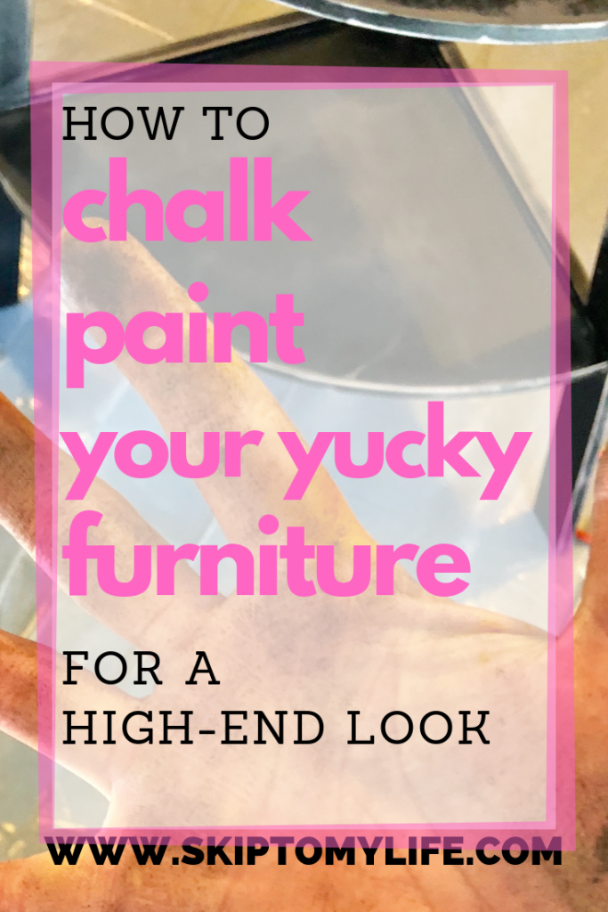 A simple chalk paint recipe can transform your furniture and make you excited to downsize.