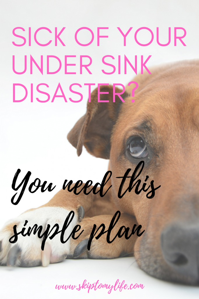 Trying to organize under sink but feeling overwhelmed? Never fear-here's help!