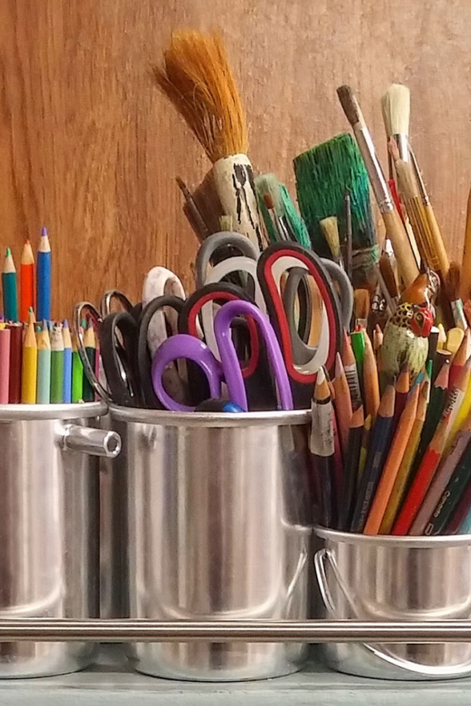 Once you transform your kid's empty room, you can leave your craft supplies out all the time.