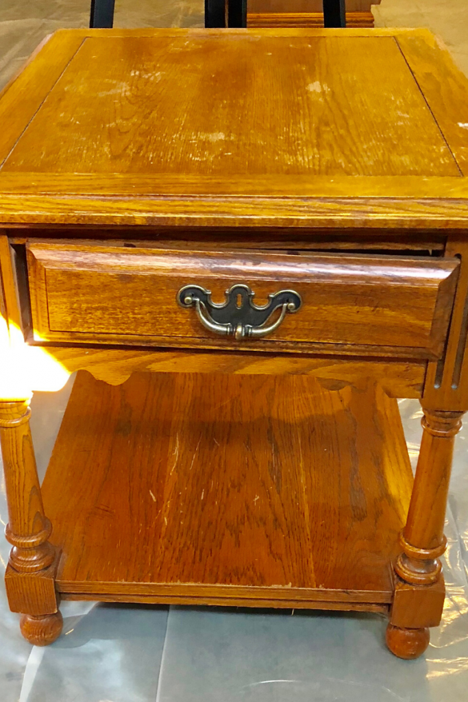 This sad end table got a cost-effective redo with some chalk paint.