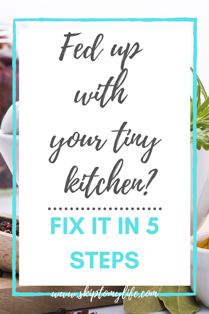Use these 5 simple steps to organize your tiny kitchen.