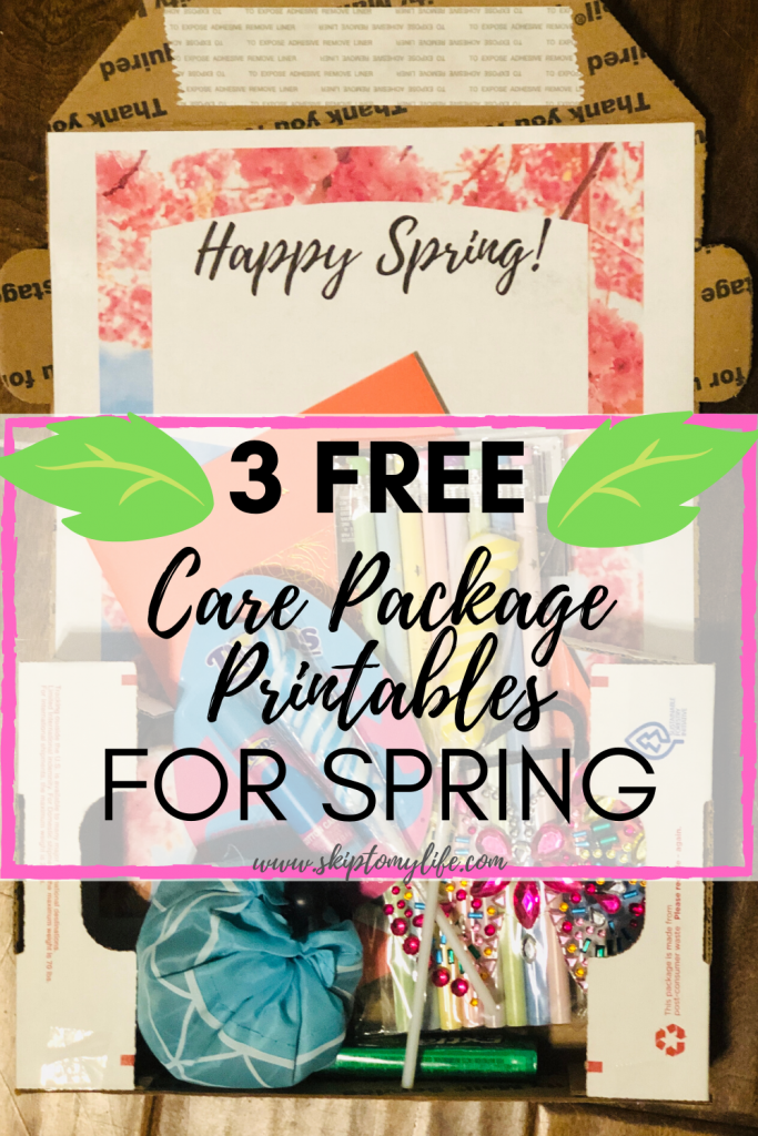 Spring care package inspiration with these 3 printables and money saving instructions.