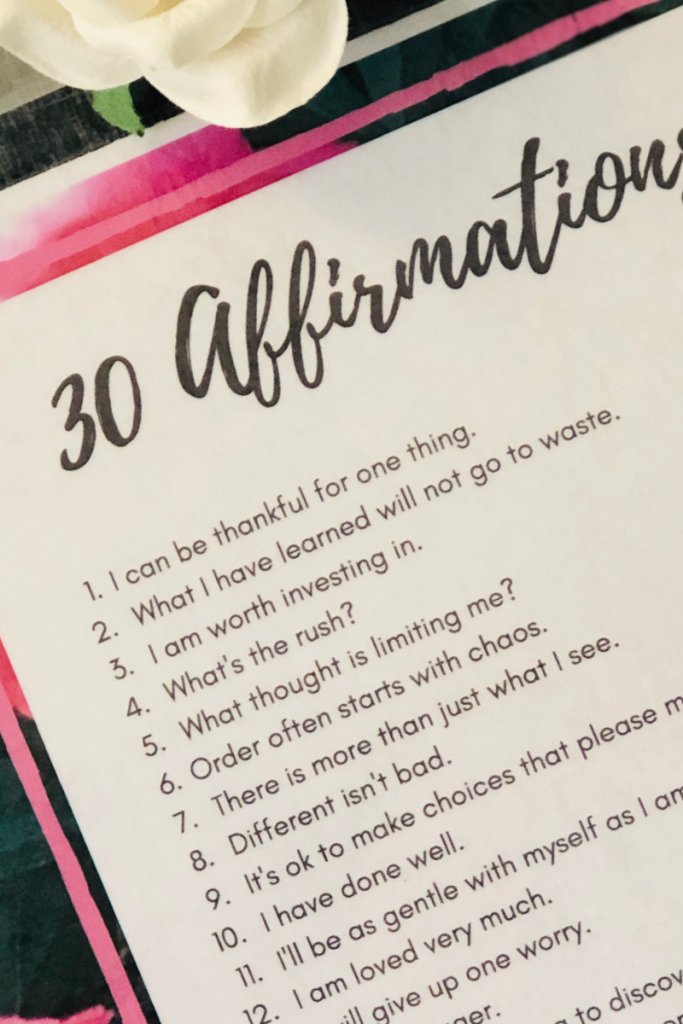 Post these 30 Affirmations for Empty Nest Moms where you'll see them every day.